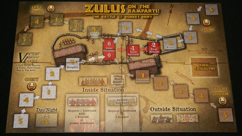 Zulus on the Ramparts board