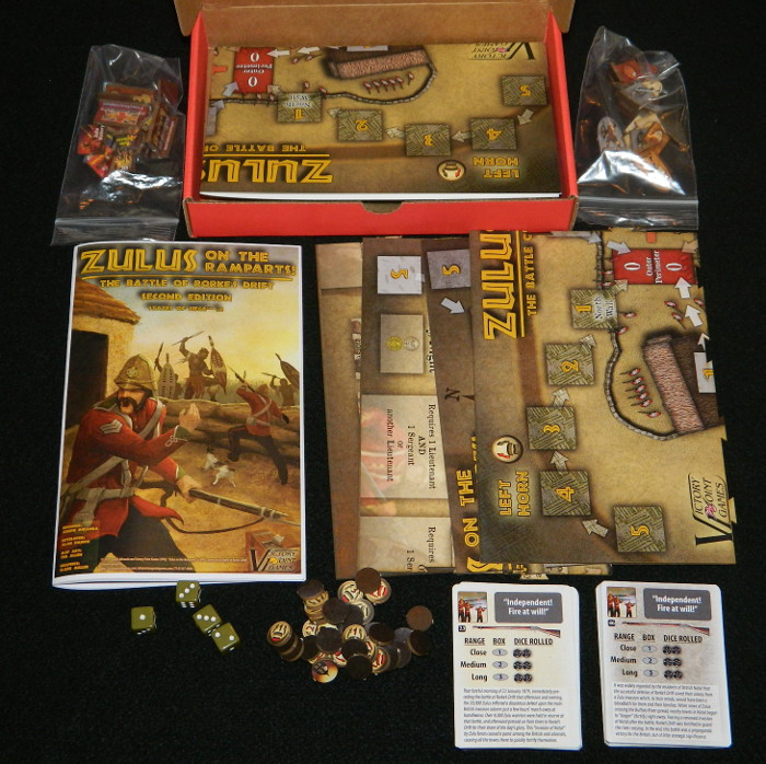Zulus on the Ramparts box contents