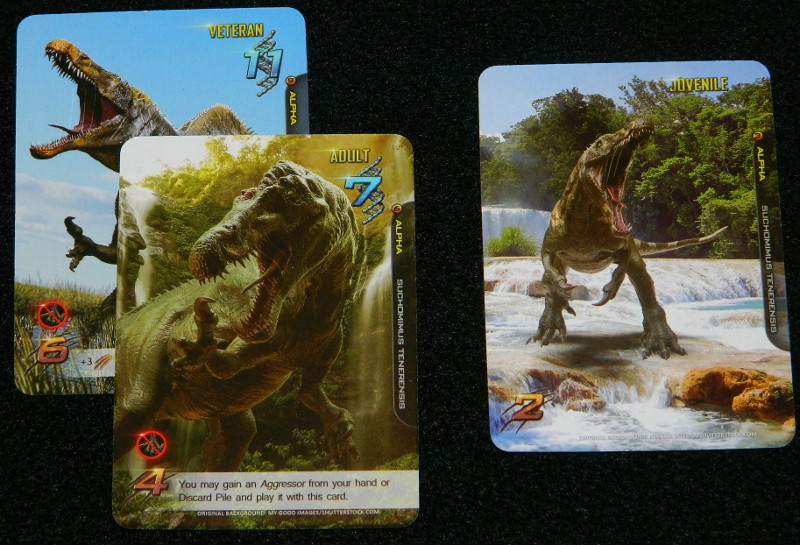 Apex Theropod Deck Building Game Second Edition Alpha cards for Suchomimus