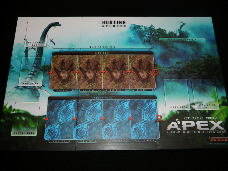 Apex Theropod Deck Building Game Hunting Grounds Board