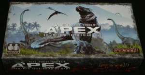 Apex Theropod Deck Building Game Box for COG Gaming board game review of the second edition