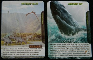 Environment card examples for Apex Theropod Deck Building Game Second Edition Review