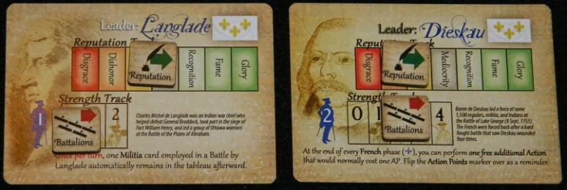 French generals in Empires in America board game